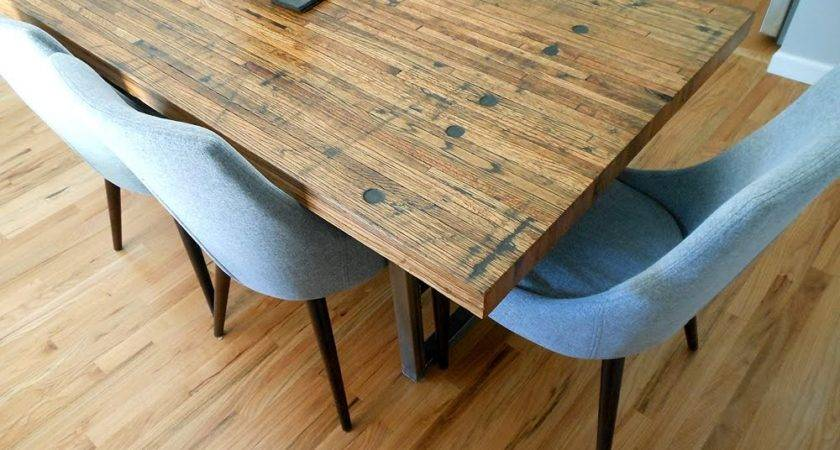 Reclaimed Semi Truck Trailer Wood Floor Tables Coffee