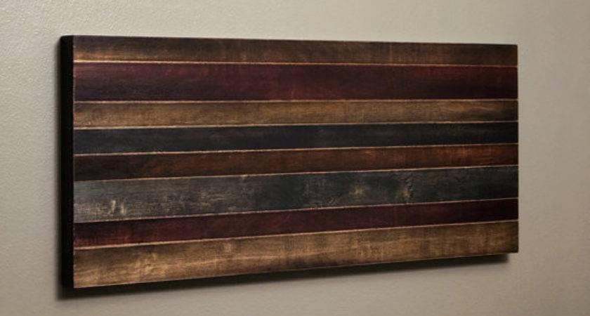 Reclaimed Wood Art Wall Hanging Wooden Strip Kennethdante