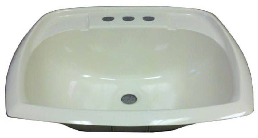 Rectangle Bone Plastic Sink Mobile Home
