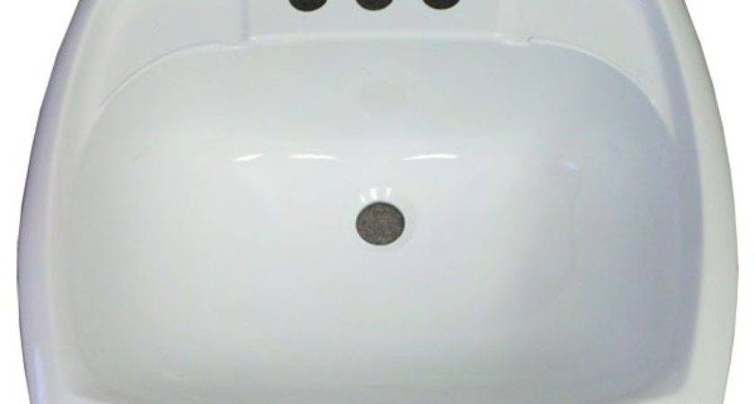 Rectangle White Plastic Sink Mobile Home