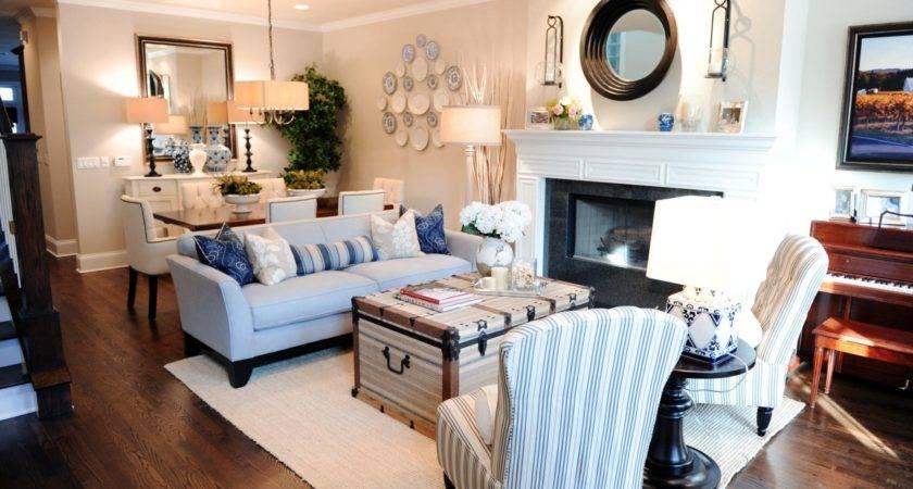 Rectangular Living Room Design