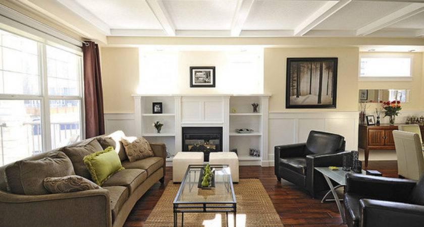 Rectangular Living Room Home Design Ideas