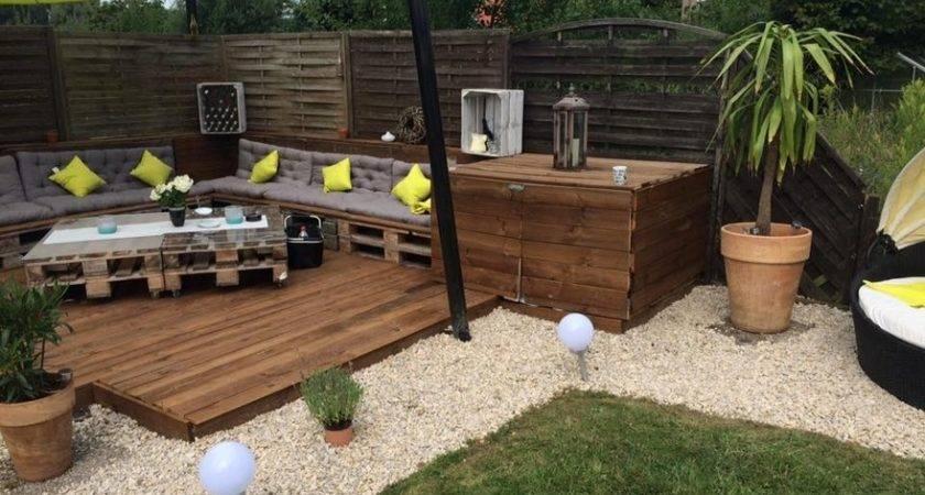 Recycled Pallet Garden Deck Furniture Ideas