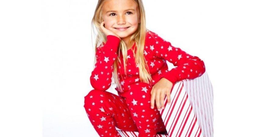 Red Silver Stars Long Sleeves Pajamas