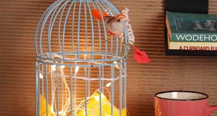 Rednbrown Home Decor Blue Bird Cage