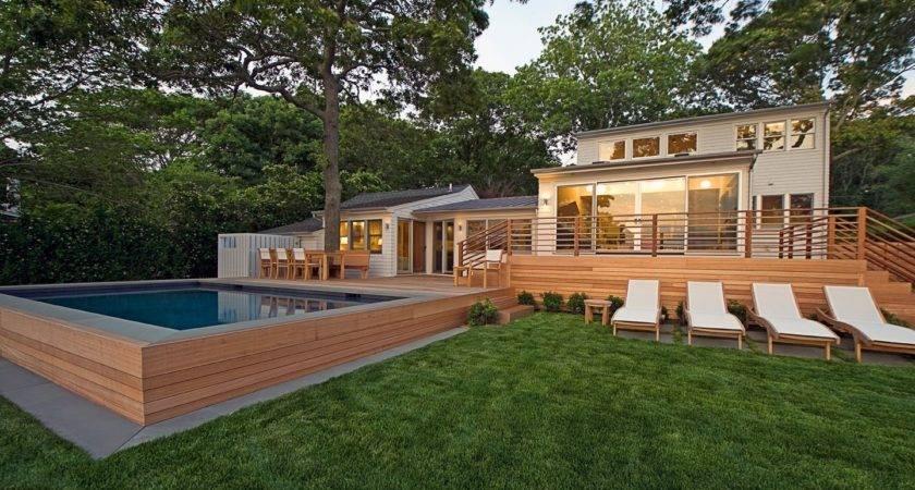 Redwood Sag Harbor Hamptons Modern Green Home