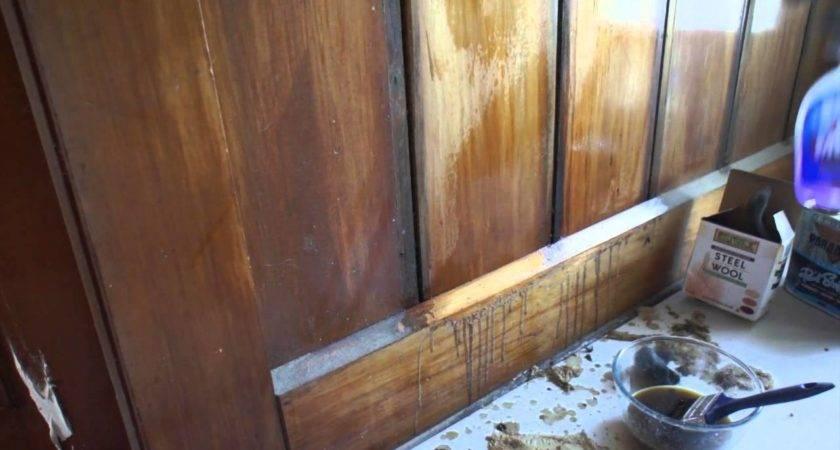 Refinishing Wood Panelling Briwax Youtube