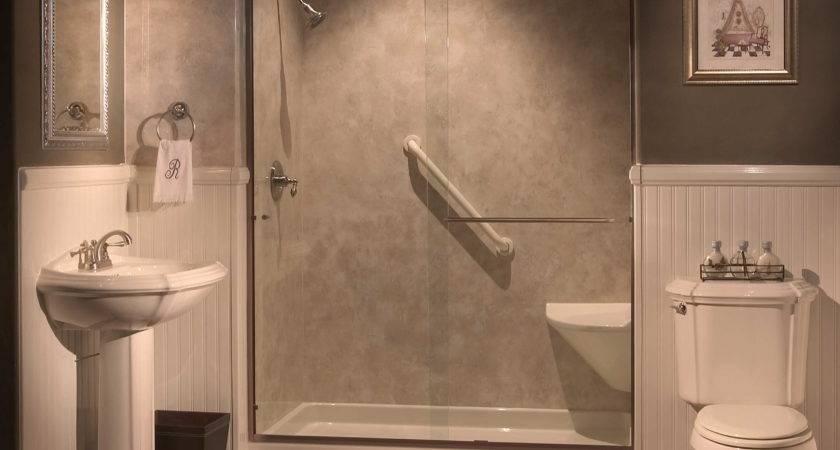 Remarkable Showers Seats Built Tub Shower
