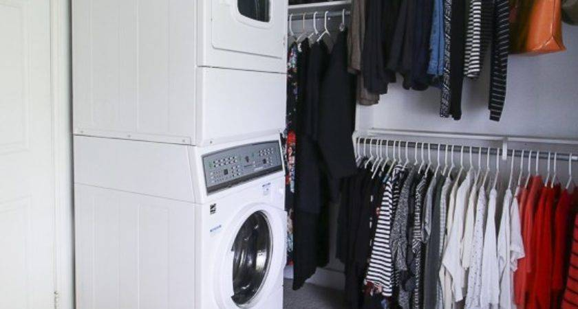 Remodelaholic Adding Stacked Washer Dryer