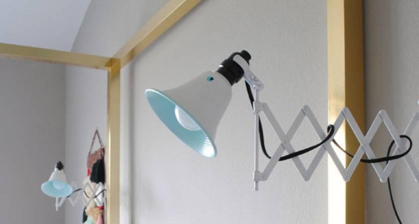 Remodelaholic Diy Accordion Wall Lamps Ikea Mirrors