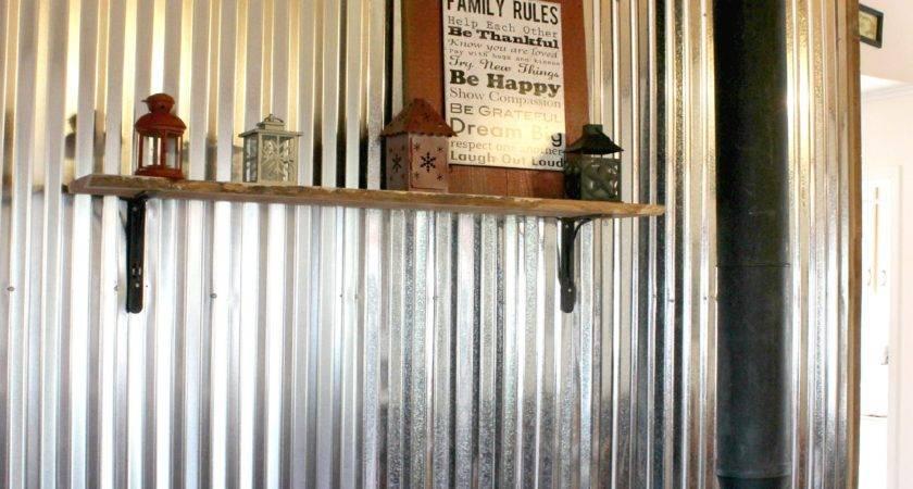 Remodelaholic Diy Corrugated Tin Wall Tutorial