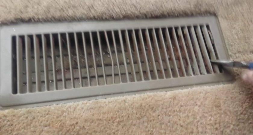 Remove Floor Heater Register Vent