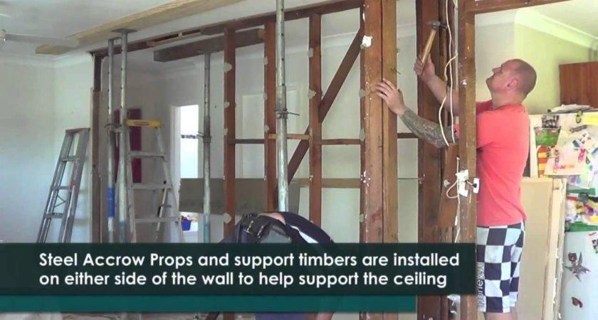 Remove Timber Load Bearing Wall Youtube