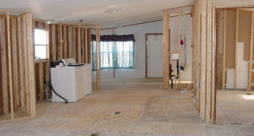 Removing Walls Mobile Home Living