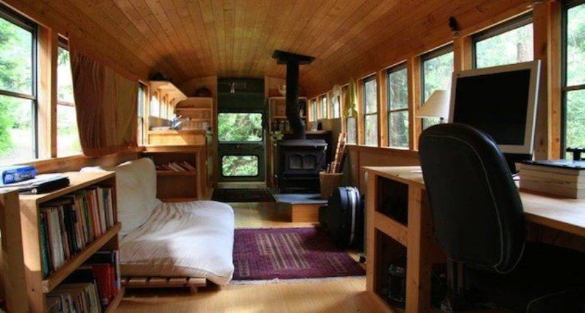 Renovated School Bus Turned Mobile Home