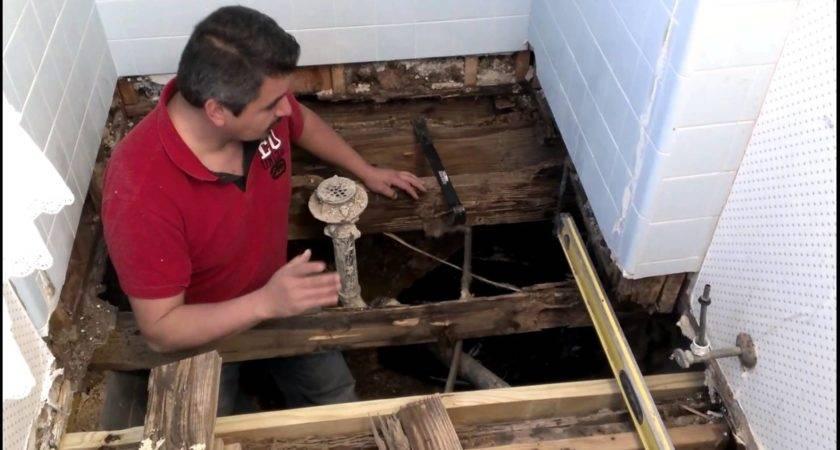 Repair Bathroom Floor Structure Youtube
