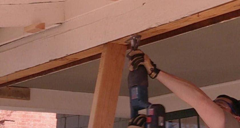 Repair Sagging Support Beam Tos Diy