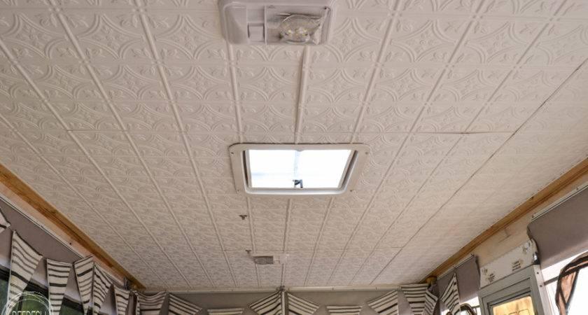 Repair Water Damaged Pop Camper Roof Ceiling