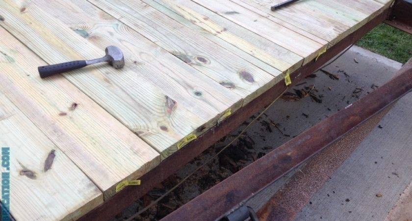 Replace Wood Deck Flatbed Trailer Diy Metal