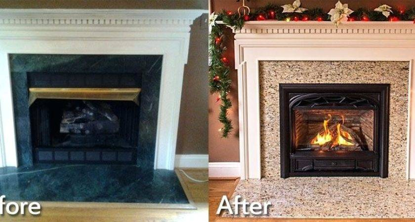 Replace Wood Stove Fireplace April Piluso