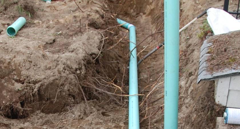 Replacing Sewer Water Lines April