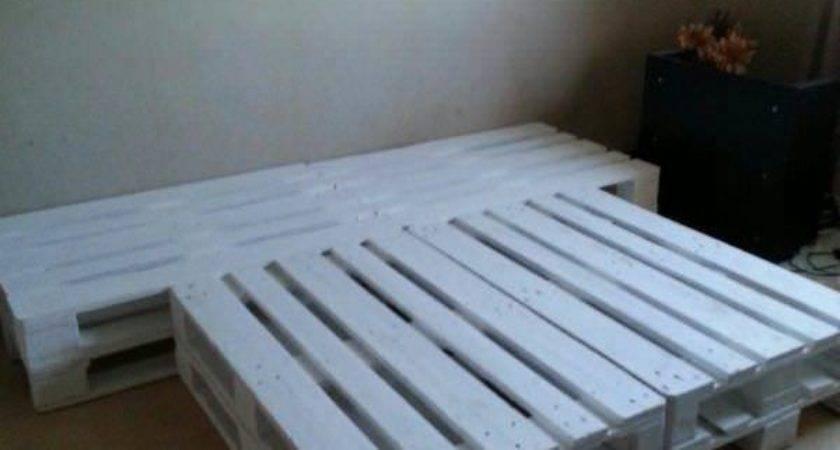 Repurposed Bed Frame Diy Wooden Pallet Set