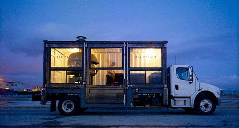 Repurposed Shipping Container Turns Into Vibrant Pizza