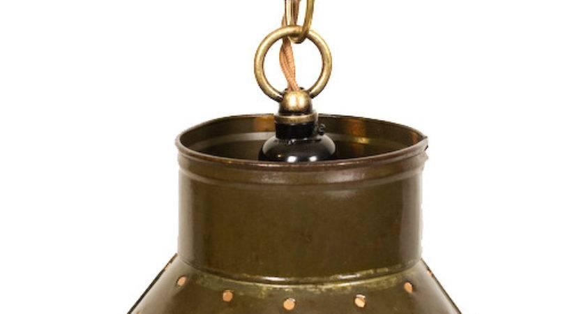 Repurposed Vintage Colander Pendant Light Junkyard