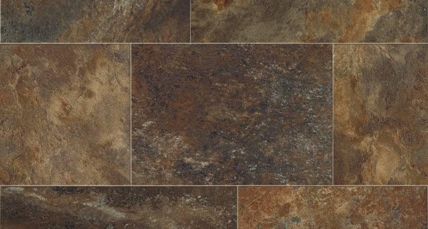 Resilient Vinyl Flooring Tile Wood Stone Looks