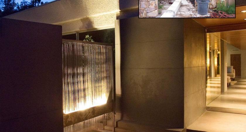 Resurfacing Walls Before After Modern Exterior