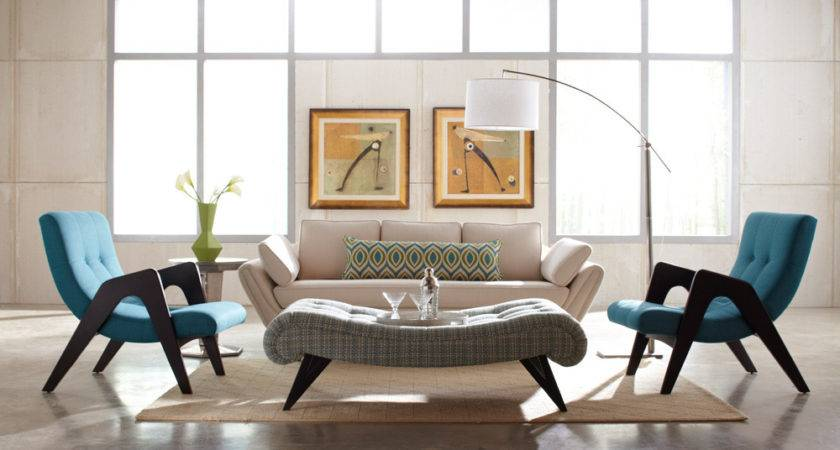 Retro Modern Interior Design Living Rooms