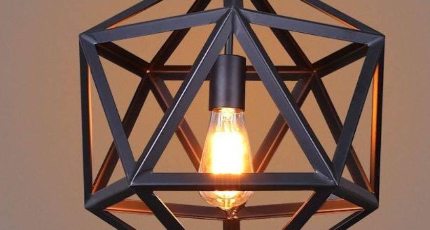 Retro Strong Industrial Diy Metal Frame Ceiling Lamp Light