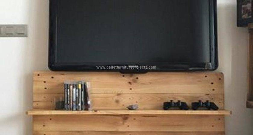 Reused Wood Pallet Stand Shelves