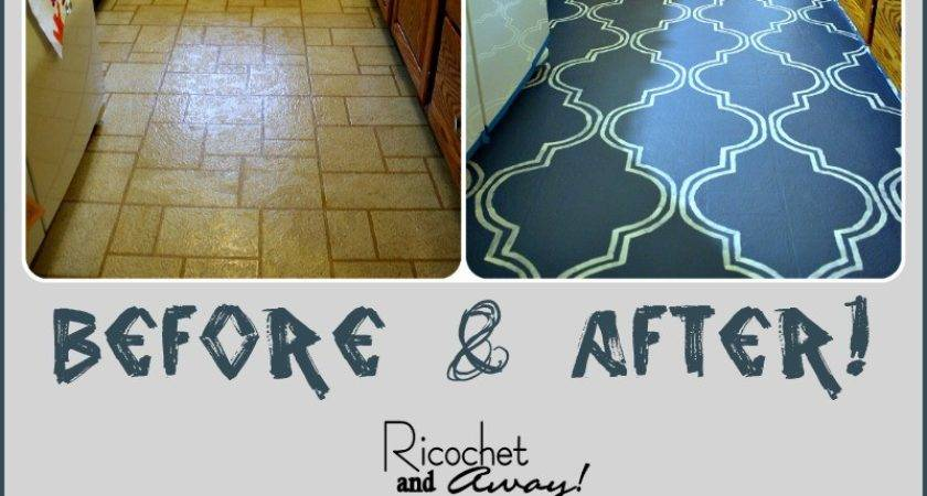 Ricochet Away Painted Vinyl Floor