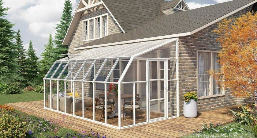 Rion Sun Room Lean Greenhouse Polycarbonate