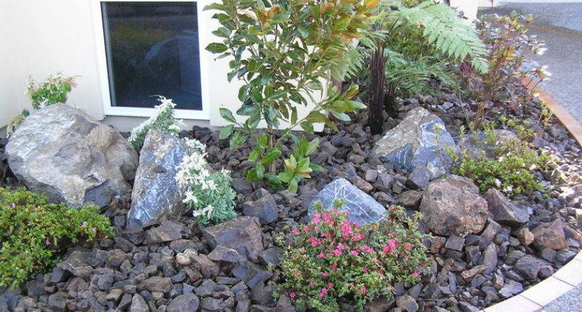 Rock Bed Landscaping Ideas Design