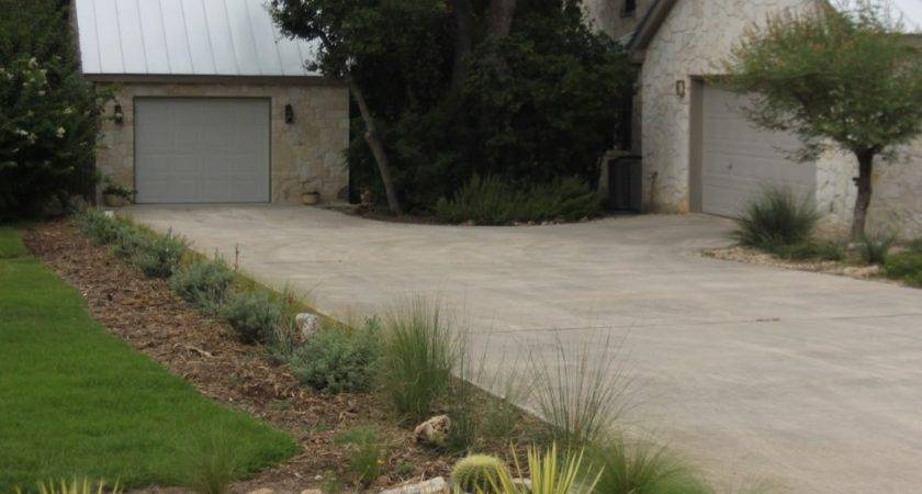 Rock Oak Deer Driveway Landscaping Completed