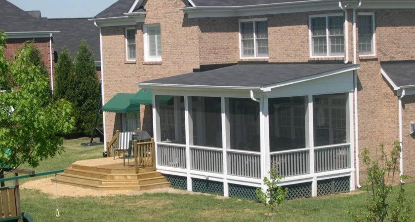 Roof Patio Design Plans Designs Screened