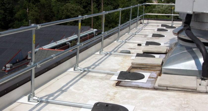 Roof Railing Osha Compliant Non Penetrating Guardrail