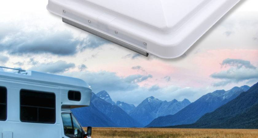 Roof Vent Cover Camper Trailer White Lid