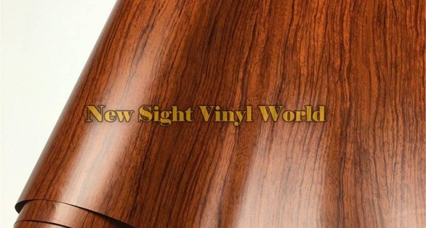 Rosewood Wood Grain Decal Vinyl Wrap Film Sticker