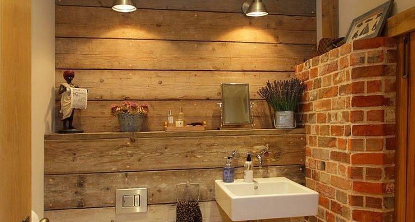 Rugged Ravishing Bathrooms Brick Walls