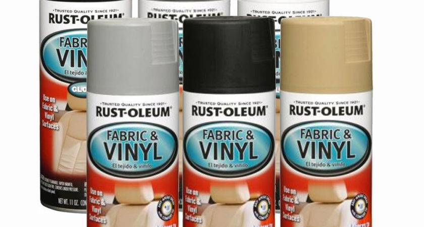 Rust Oleum Fabric Vinyl Spray Paint Car Seats Dashboards
