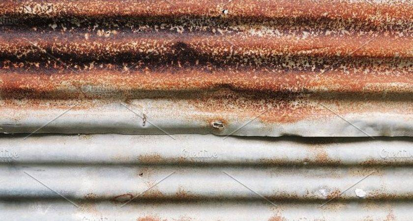Rusted Metal Sheet Corrugated Abstract Photos