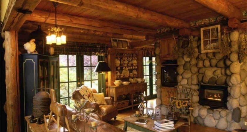 Rustic Cabin Interior Log Interiors Beautiful