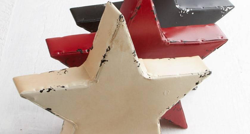 Rustic Chunky Americana Star Decor Home