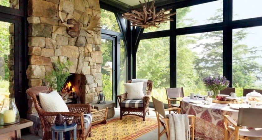 Rustic Cottage Decorating Plaid Pillows Chalet