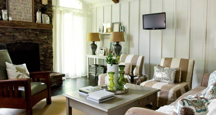 Rustic Cottage Living Room Milk Honey Home Hgtv