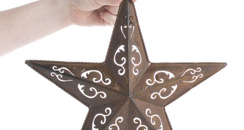 Rustic Filigree Barn Star Stars Primitive Decor
