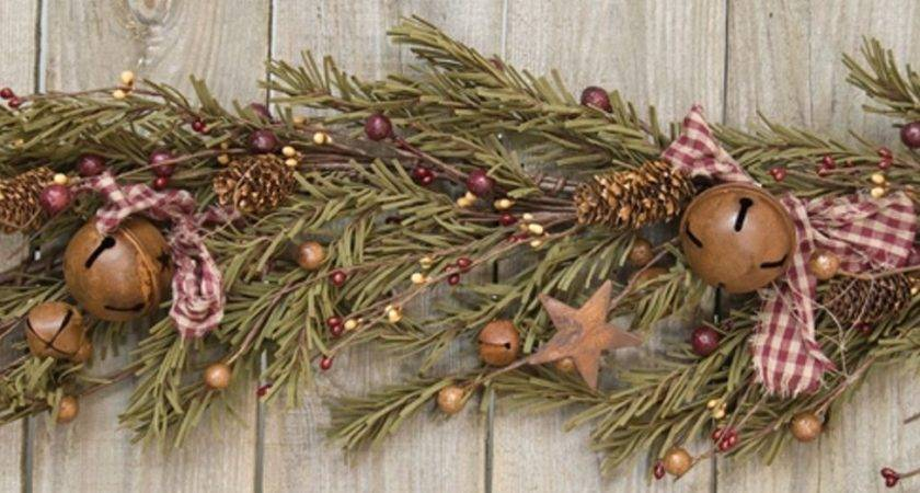 Rustic Holiday Garland Approx Feet Long Pine Cones Rusty